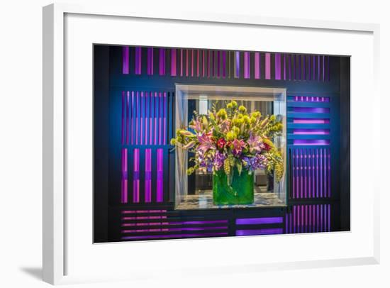 W Hotel's Flower Arrangement in Lobby-Richard Nowitz-Framed Photographic Print