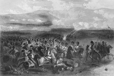Charge of Heavy Cavalry at the Battle of Balaclava During the Crimean War, 1854