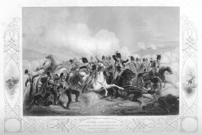 Light Cavalry Attacking the Russian Guns at Balaclava During the Crimean War, 1854