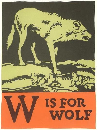 W is for Wolf--Art Print
