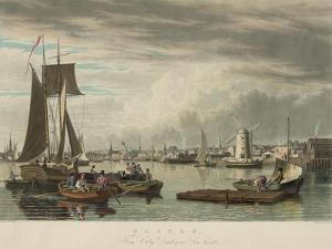 Boston from City Point Near Sea Street by W.J. Bennett