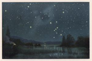 Star-Filled Sky Featuring the Constellation of Orion by W. Kranz