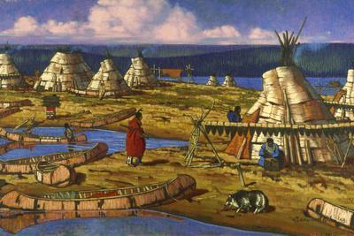 In Manitoba, Cree Indians Set Up Camp