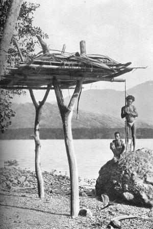 Mortuary platform in New Guinea, 1902