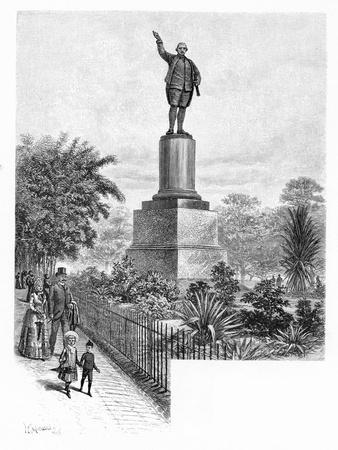 Cook's Monument, Hyde Park, Sydney, Australia, 1886