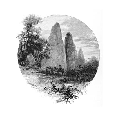 Granite Rocks, Betts Camp, Mount Kosciuszko, New South Wales, Australia, 1886