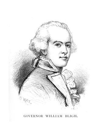 William Bligh, British Naval Officer and Governor of New South Wales