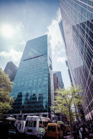 W. R. Grace Building and skyscrapers, Streetview, Manhattan, New York, USA-Andrea Lang-Photographic Print