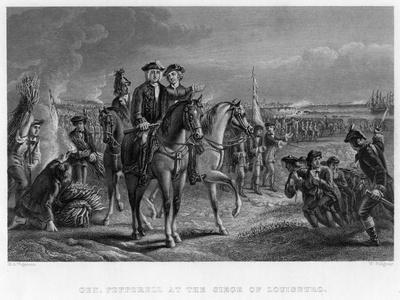 General Pepperell at the Siege of Louisburg, Canada, 18th Century