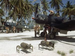 American Ground Crews Prepare Marine Corsairs for Strikes on Japanese by W. Robert Moore