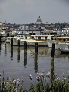 Boats Line the Docks of Annapolis, Maryland by W. Robert Moore