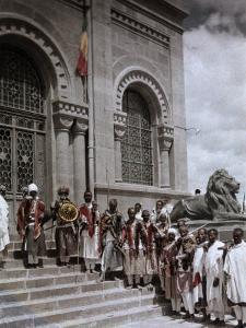 Group of Warriors Guard the Mausoleum of King Menelik Ii by W. Robert Moore
