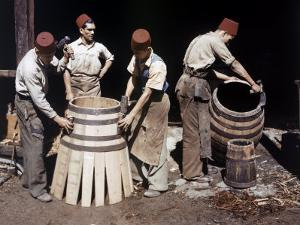 Malaysian Coopers Work Making Barrels at a Winery by W. Robert Moore