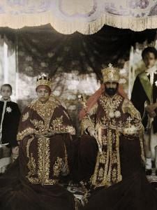 Monarchs Haile Selassie the First and Manen, Pose in their Robes by W. Robert Moore