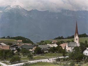 View of a Picturesque Austrian Village Near Innsbruck by W. Robert Moore