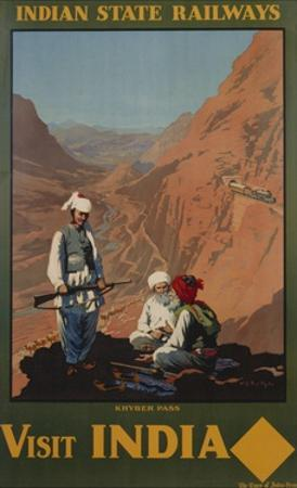 Visit India - Indian State Railways, Khyber Pass Poster by W.S Bylityllis