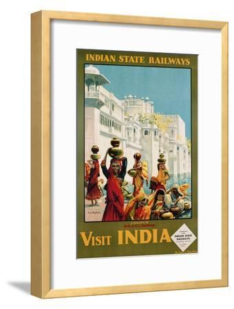 Visit India - Indian State Railways, Udaipur Poster