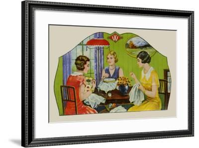 W Sewing Needles--Framed Art Print
