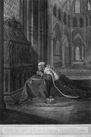 Louis VII, King of France before Becket's Tomb, Canterbury Cathedral, 12th Century
