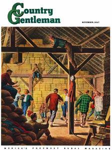 """Square Dance in the Barn,"" Country Gentleman Cover, November 1, 1947 by W^W^ Calvert"