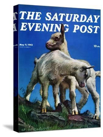"""""""Two Kid Goats,"""" Saturday Evening Post Cover, May 9, 1942"""