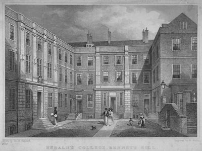 College of Arms, City of London, 1827
