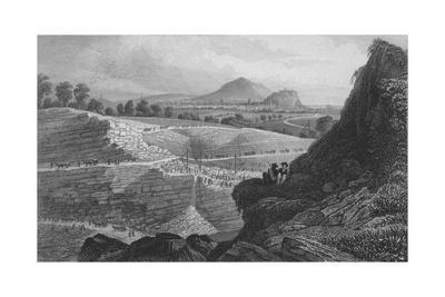'The Stone Quarries, Craigleith, near Edinburgh: From Which the New Town was Built', 1829