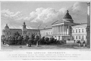 University College, Gower Street, London, 1828 by W Wallis