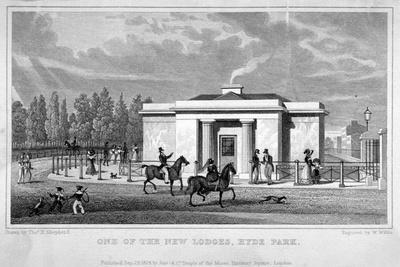 View of a Lodge in Hyde Park, London, 1828