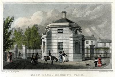 West Gate, Regent's Park, London, 19th Century