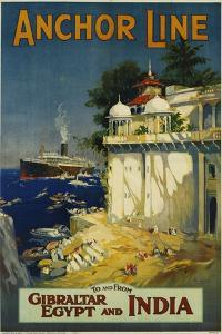 Anchor Line Travel Poster by W. Welsh
