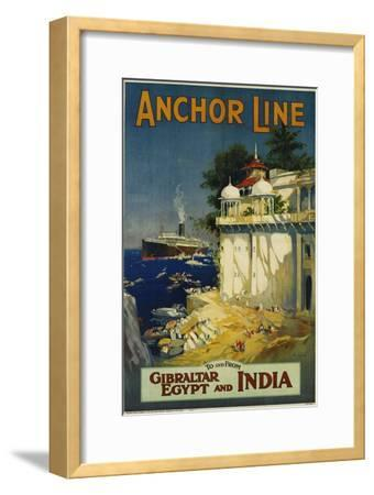 Anchor Line Travel Poster