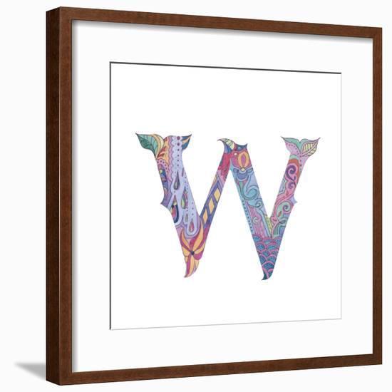 W-Green Girl-Framed Giclee Print