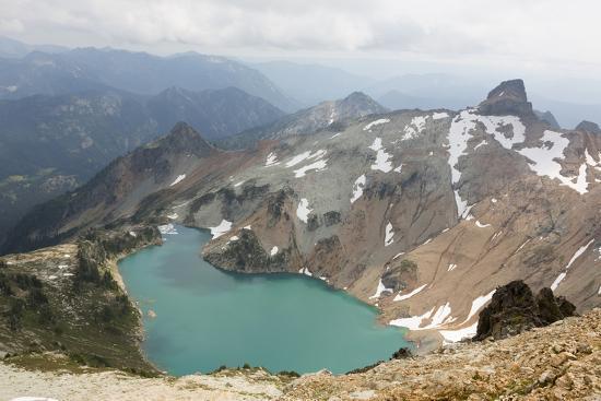 Wa, Alpine Lakes Wilderness, Circle Lake, View from Mount Daniel-Jamie And Judy Wild-Photographic Print