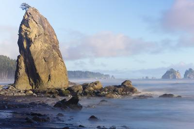 Wa, Olympic National Park, Rialto Beach, Seastack-Jamie And Judy Wild-Photographic Print