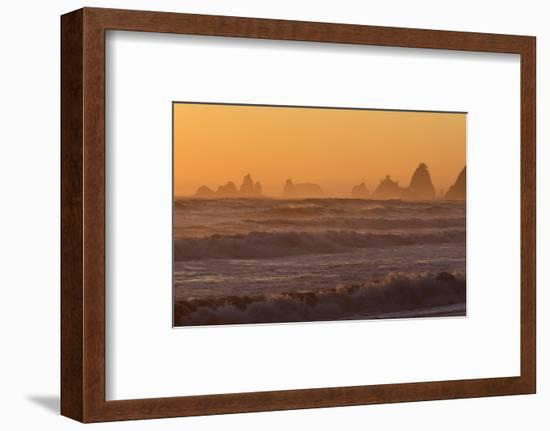 Wa, Olympic National Park, Sea Stacks at Sunset, Rialto Beach-Jamie And Judy Wild-Framed Photographic Print