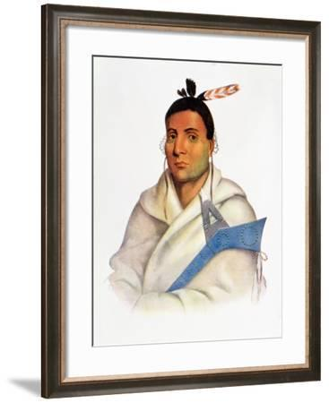 Waatopenot, a Chippeway Chief from the Ouisconsin Territory--Framed Giclee Print