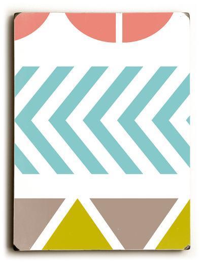 Wacky pattern--Wood Sign