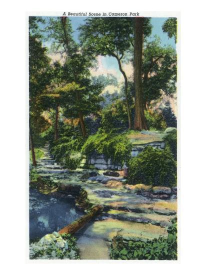 Waco, Texas - a Beautiful View in Cameron Park, c.1944-Lantern Press-Art Print