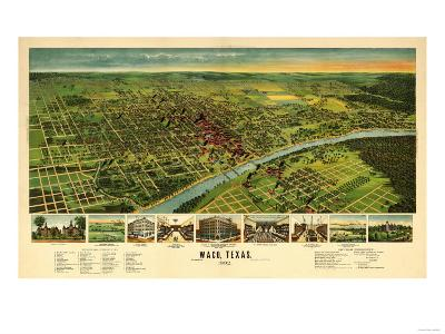 Waco, Texas - Panoramic Map-Lantern Press-Art Print