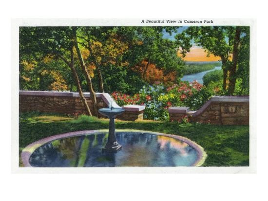 Waco, Texas - Scenic View in Cameron Park, c.1944-Lantern Press-Art Print