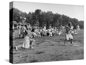 Wacs Playing Game of Softball