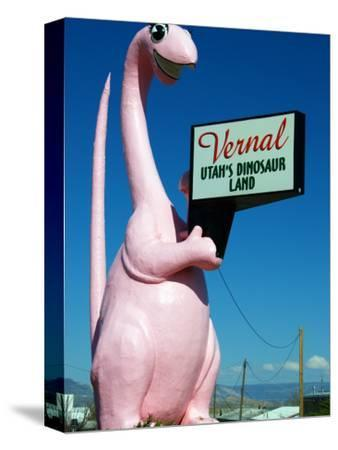 Pink Dinosuar Greeting Visitors