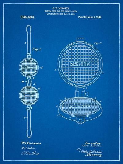 Waffle Iron for Ice Cream Cones 1909 Patent-Cole Borders-Art Print