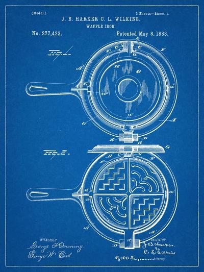 Waffle Iron Patent--Art Print