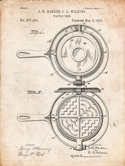 Waffle Iron Patent-Cole Borders-Art Print