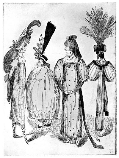 Waggoners Frocks or No Bodys of 1795, 1795--Giclee Print