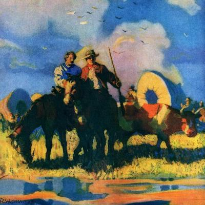 """Wagon Train,""March 1, 1926-R.W. Crowther-Giclee Print"