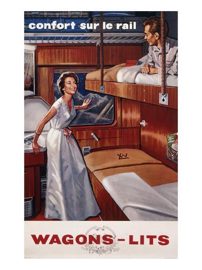Wagons-Lit Company Poster--Giclee Print