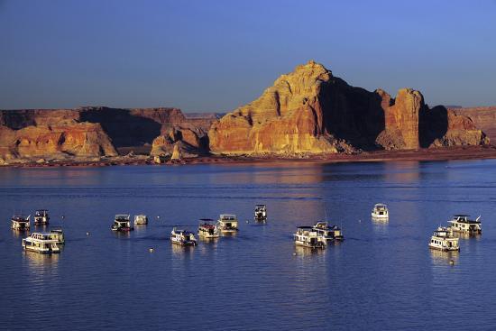 Wahweap Marina, Glen Canyon National Recreation Area, Lake Powell, Page, Arizona-Michel Hersen-Photographic Print